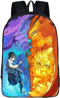 Golden Water Cloud Up 3D Printed Pattern Naruto Colorful Rucksack School Backpack Bookbag