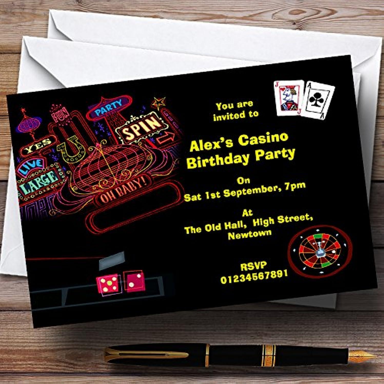 Las Vegas Casino Theme Personalised Birthday Party Invitations   Invites & Envelopes