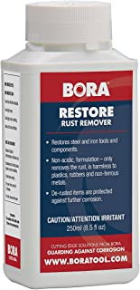 Restore Rust Remover Bora STN-RRR250 250ml. Highly Concentrated Non-Acidic Rust Remover that Removes Rust and Protects Against Future Corrosion