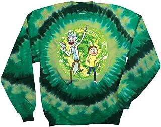 Rick and Morty Adult Unisex Large Portal Fleece Crew Sweatshirt