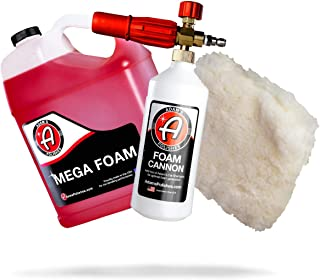Adam's Foam Cannon Car Wash Kit - Produces Thick, Luxurious Foam - Plush, Synthetic Wool Pad Ensures a Swirl and Scratch F...
