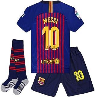 7db272d1204df LCL T-Shirt Maillot de Football pour garçons # 10 Messi - Pantalon et  Chaussette