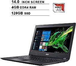 Acer Aspire 3 Newest 14-Inch Premium Laptop - AMD A9-9420e 1.8GHz up to 2.7GHz, AMD Radeon R5, 4GB DDR4 RAM, 128GB SSD, HDMI, WiFi, Bluetooth, Webcam, Windows 10 Home, Black