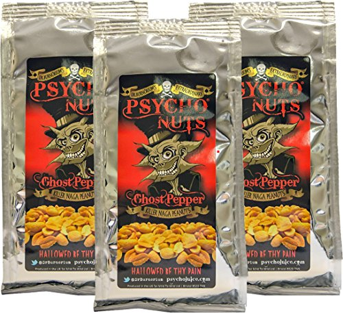 Psycho Juice PSYCHO NUTS Ghost Pepper Peanuts (3 x 80g)