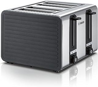 Bosch TAT7S45 Grille-pain 4 fentes avec arrêt automatique et fonction décongélation, parfait pour 4 tranches de toast, lar...