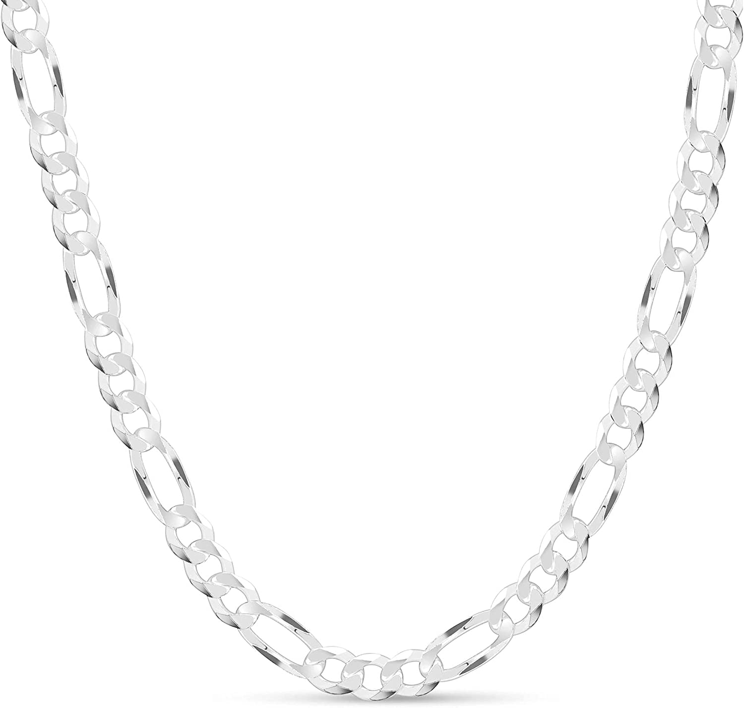 KEZEF Men's 9mm 200 New product!! Gauge Figaro Sterling Solid 925 Chain Silver Max 59% OFF