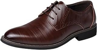7909913f984 Zapatos Oxford Hombre, Cuero Boda Negocios Calzado Vestir,Zapatos con Punta  de Cuero para