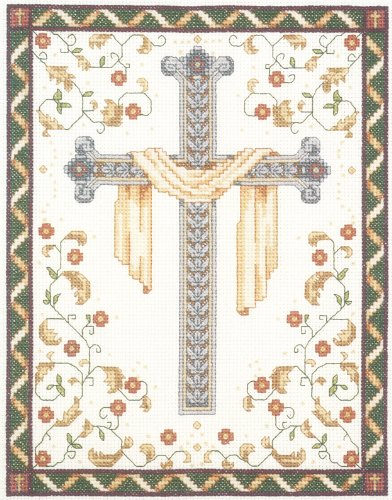 Janlynn 10235 His Cross Counted Cross Stitch Kit-8'X10' 14 Count