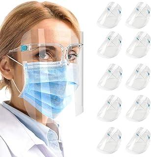 10 pcs Reusable Glasses Style Visor Transparent Anti Air Dust Cover,Unisex Mouth Cover, Fashion Protective Reuseable
