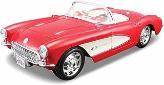 Maisto Assembly Line 1957 Chevrolet Corvette 1/24 Scale Diecast Model Car Kit Red