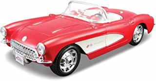 Maisto Assembly Line 1957 Chevrolet Corvette 1/24 Scale Diecast Model Car Kit Red