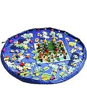 Dazers おもちゃ収納バッグ 子どもプレイマット お片付け簡単 特大マット 直径150cm 防水 ブロック 積み木 収納袋