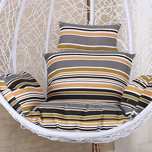 Saddpa Wicker van rotan, meerkleurig, antislip, soft swing stoel, kussen zonder standaard, voor binnen en buiten, voor in de tuin 26 * 86 * 114 bruin