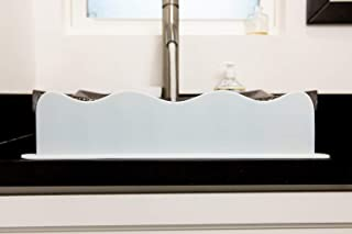 "Splash Guard For Sink 19"" L x 4.2"" H x 2"" W Sink Splash Guard Premium Silicone Kitchen Sink Splash Guard Bathroom & Island..."