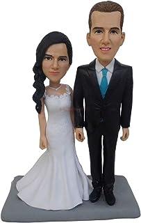 Figurine Turui matrimonio sposi in miniatura scultura topper statura scultura dalla tua foto faccia personalizzata bambola...