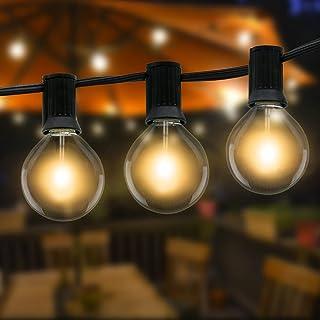 Guirlande Lumineuse Exterieure, Litogo Guirlande Guinguette10.5m 25+2 G40 LED Ampoules, Étanche Guirlandes Lumineuses D'ex...