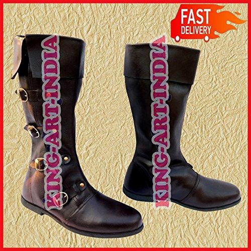 NASIR ALI - Botas de Piel para Hombre, Talla L, 4 Unidades, tamaño Mediano, para Encogimiento de pies