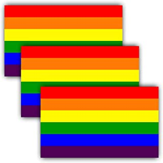"ANLEY 5""X 3"" LGBT Pride Naklejki 3szt.- Rainbow Flag Lesbian Gay Bisexual Transgender Pride Odblaskowe naklejki na zderza..."