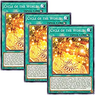 Yu-Gi-Oh! y3 Pieces setz English Version CYHO-EN 056 Cycle of The World Endless of The World (Normal) 1st Edition