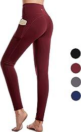 Legging de Sport Femme, Pantalon de Yoga avec Poch