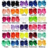 25Pcs 6 inch Hair Bows Clips Solid Color Grosgrain Ribbon Larger Hair Bows Alligator Clips Hair Accessories for Baby Girls Infants Toddlers Kids Teens