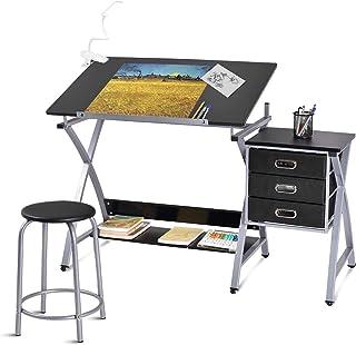 Laptop Study TDesktop able Office Desk Computer Desk with Pullout Keyboard Tray 31.5 x 17.7 x 28.6 inch Multi-Layer Tray Storage Frame Laptop Office Desk White uookboy-Tools Desktop Computer Desk