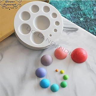 UG LAND INDIA Half Circle Ball Pearl Silicone Fondant Cake Mould Sugarcraft Mold Fondant Mold Cake Decorating Tools Chocol...