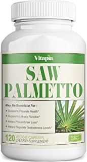 Sponsored Ad - Vitapia Saw Palmetto 1000mg per Serving - 120 Veggie Capsules - Vegan and Non-GMO - Saw Palmetto Complex - ...