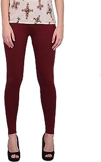 Women's Ankle Length Leggings Soft Cotton Fabric Slim Fit.(Maroon)