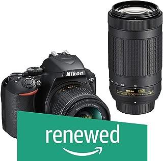 (Renewed) Nikon D3500 DX-Format DSLR Two Lens Kit with AF-P DX Nikkor 18-55mm f/3.5-5.6G VR & AF-P DX Nikkor 70-300mm f/4.5-6.3G ED (Black)