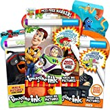Imagine Ink Coloring Book Set Bundle ~ 3 Mess Free Coloring Books for Kids Featuring Toy Story, Minions, Angry Birds with Invisible Pens and Stickers