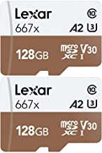 Lexar High-Performance 667x microSDHC/microSDXC 128gb Memory Card 2 Pack (LSDMI128BNA667A)