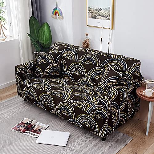 ASCV Housses de canapé géométriques pour Salon Housse de canapé Extensible Housse de canapé Housse de Meuble élastique Housses pour Fauteuil A2 2 Places