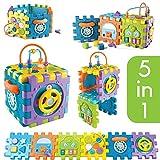 Tippi - Cubo di attività 6 in 1 per Neonati e Bambini - Centro di attività Musicali Giocattolo per Ragazzi o Ragazze di 12 Mesi - Selezionatore di Forme multigioco per Bambini da 1 Anno in su