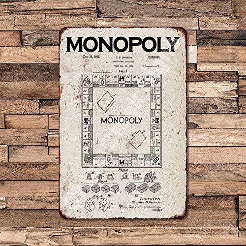 Cheyan 1935 Monopoly Game - Juego de Mesa (Metal, 20,3 x 30,5 cm): Amazon.es: Hogar