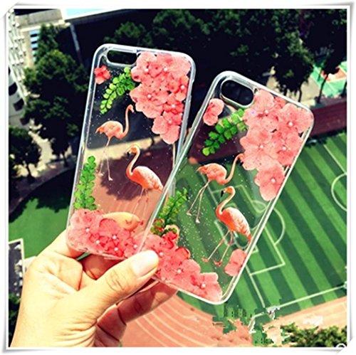 One Life ,one jewerly iphone7plus/8plus cáscara móvil de la flor seca, cáscara del teléfono móvil del flamenco, hecho a mano. (¿qué tipo de cáscara del teléfono móvil se necesita?