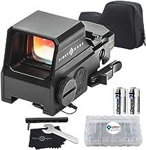 Sightmark Ultra Shot M-Spec Reflex Sight, 65 MOA Circle-Dot Bundle with 2 Extra Energizer..
