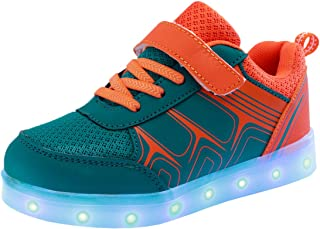 Kid's USB Charging Flashing Sneakers Night LED Light Up Sports Dancing Shoes