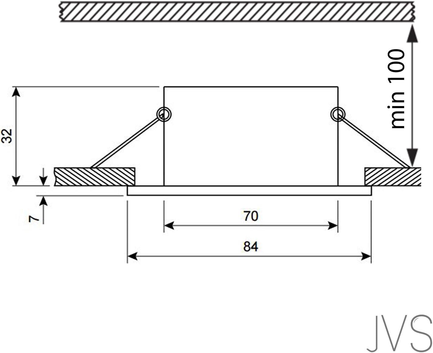LED Einbaustrahler VENEDIG (Weiss) Rund Inkl. 3 X 3.5W LED Warmweiss 230V IP44 LED Deckenstrahler Einbauleuchte Deckeneinbaustrahler Einbauspot Spot Einbaustrahler Deckeneinbauleuchte 6er Set