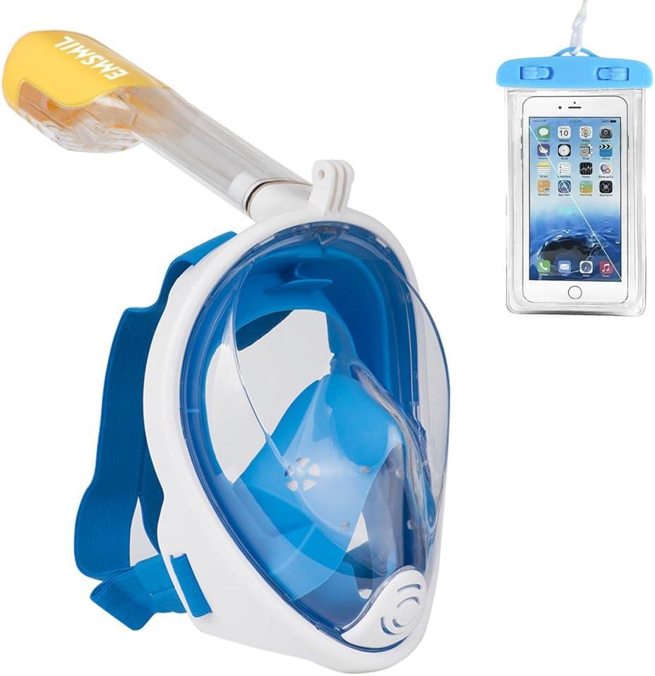 Emsmil Le masque de plong/ée anti-bu/ée et anti-fuite pour la natation la plong/ée et les enfants lunettes de plong/ée vous permet de respirer naturellement Bleu