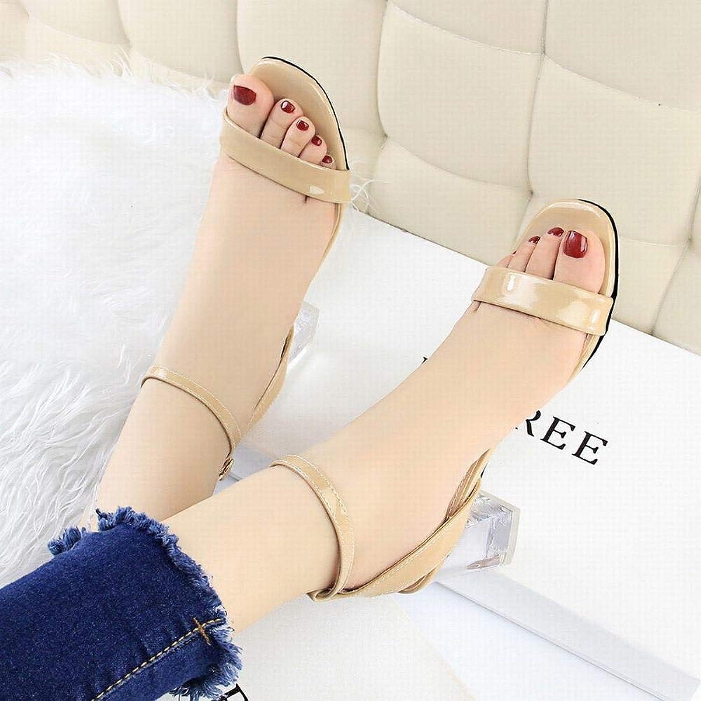Kirabon Women's High Heel Simple Open Toe High Heel Sandals (color   Nude, Size   39)