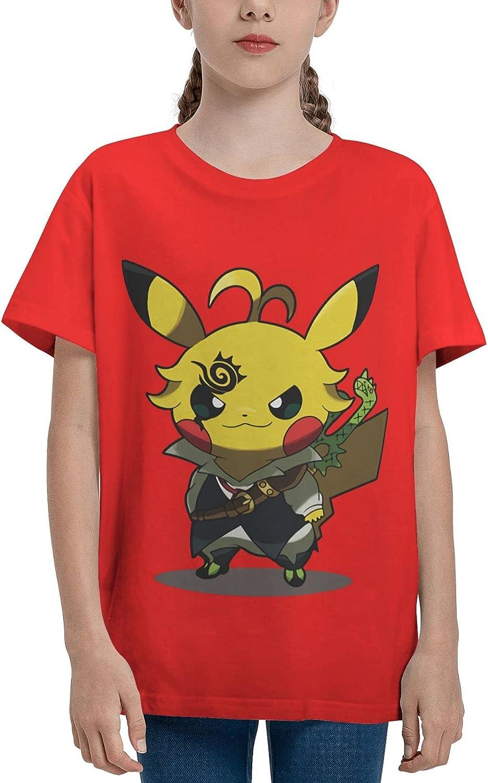 JXxyall Anime Youth T Shirt Cotton Tops Short Sleeve Tee