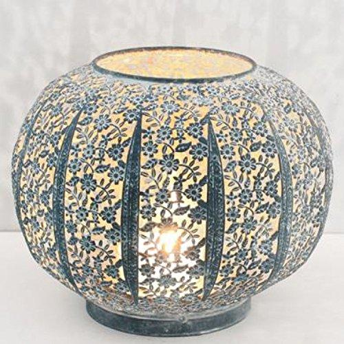 dekorative Garten-Laterne stimmungsvolle Tisch-Laterne Windlicht im shabby Landhausstil