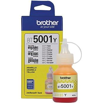 Brother BT5001Y Botella de tinta amarilla, 5,000 Paginas