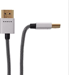 Sanus Super Slim 4' HDMI Cable - 4 Feet - 18 Gbps High-Speed Supports Full 1080P, 4K, UltraHD, 3D, Ethernet, and Audio Return Channel - SOA-SH4