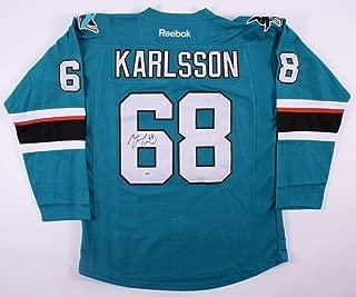 Melker Karlsson Autographed Signed San Jose Sharks Jersey - PSA/DNA Certified