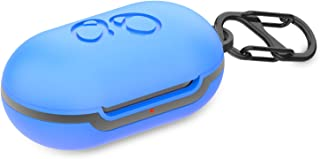 Compatible with Galaxy Buds Case Cover with Carabiner for Samsung Galaxy Case Accessories (Blue)
