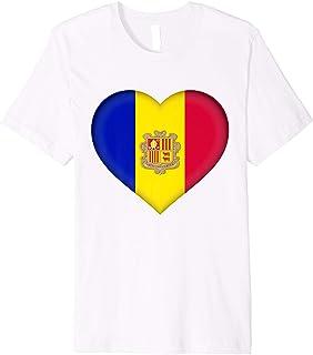 I Love Andorra T-Shirt | Andorran Flag Heart Outfit