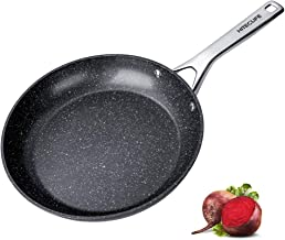 Nonstick Frying Pan 11 Inch Forged Aluminum Skillet with Stainless Steel Handle, 5 Layers Chemical-Free Stir Fry Pans, Coo...