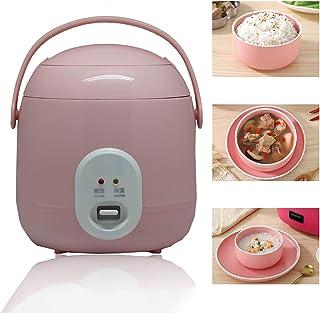 GAYBJ Mini Cocina de arroz al Vapor Olla arrocera De Primera Calidad Olla Interior (1,2 L / 200W / 220V) Función para Mantener Caliente para cocinar arroz, Avena, Huevos nutritivo,Rosado